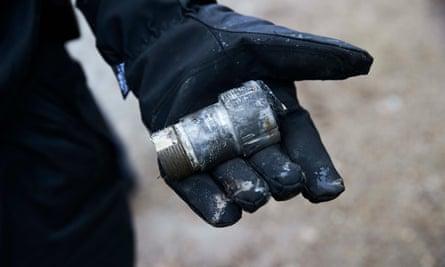 The detonator from the 1,000kg bomb in Hamburg, January 2017.