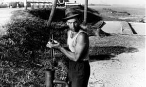 Massimo Girotti in Luchino Visconti's 1942 film Ossessione.