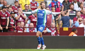 Nick Powell of Wigan Athletic celebrates after equalising in last Sunday's 3-2 defeat at Aston Villa.