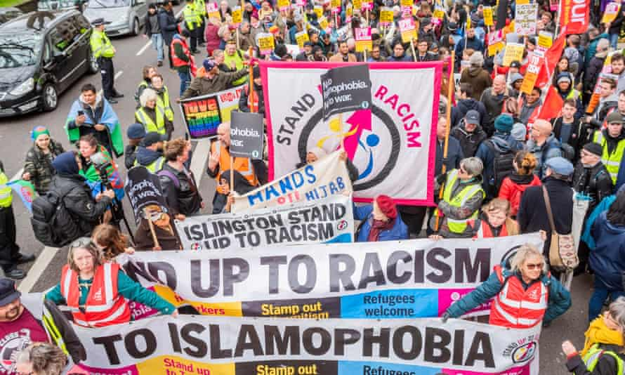 A march against racism in London in March.