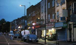 Scene of shooting in Wood Green, north London