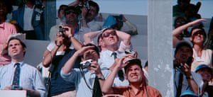 Astonishing … a crowd watch the launch of Apollo 11.