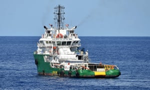The Bourbon Argos, a rescue boat chartered by Médecins Sans Frontières, in the Mediterranean in September last year.