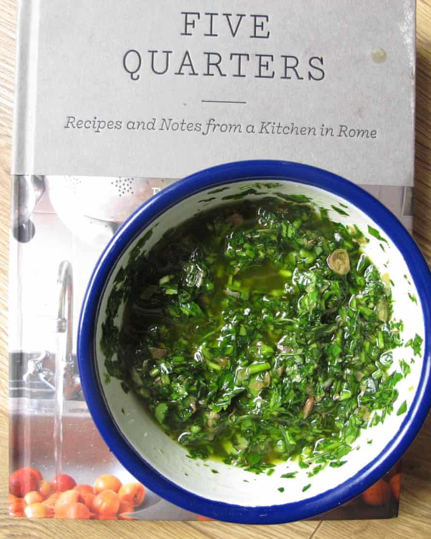 Salsa verde from Rachel Roddy's book Five Quarters.
