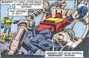 'The plots were full of holes'… a scene from the Transformers comic.