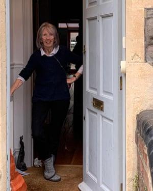 Grace stood in her doorway