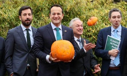 Leo Varadkar with a pumpkin
