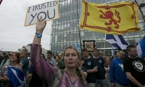 BBC Scotland protest