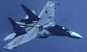 A US Southern Command image shows a Venezuela SU-30 Flanker which shadowed a US EP-3 Aries II.