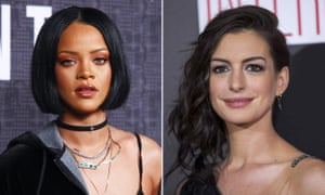 Rihanna and Anne Hathaway
