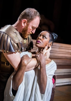 Josette Simon with Antony Byrne in a 2017 RSC production.