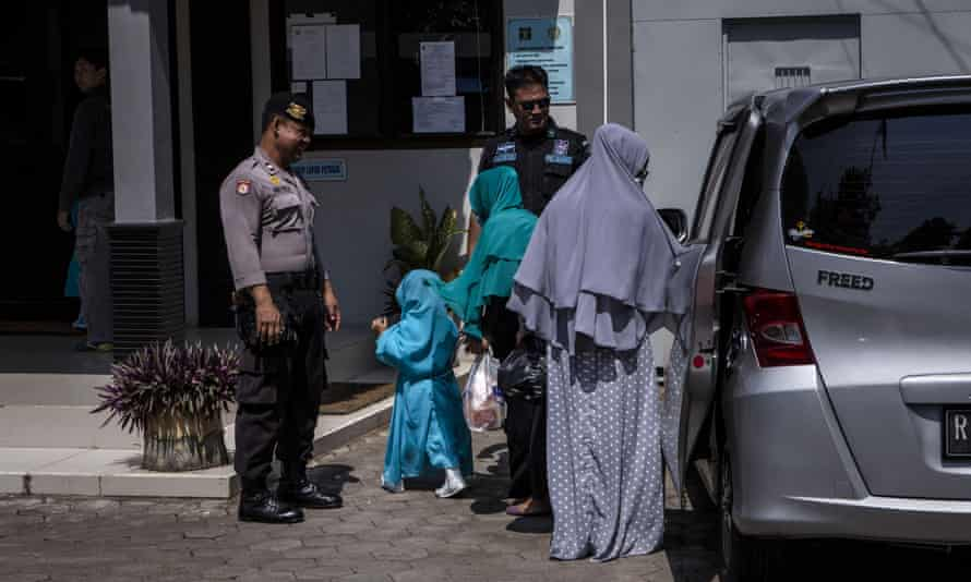Relatives of death row prisoners arrive at Wijayapura port to visit Nusa Kambangan prison on Thursday.