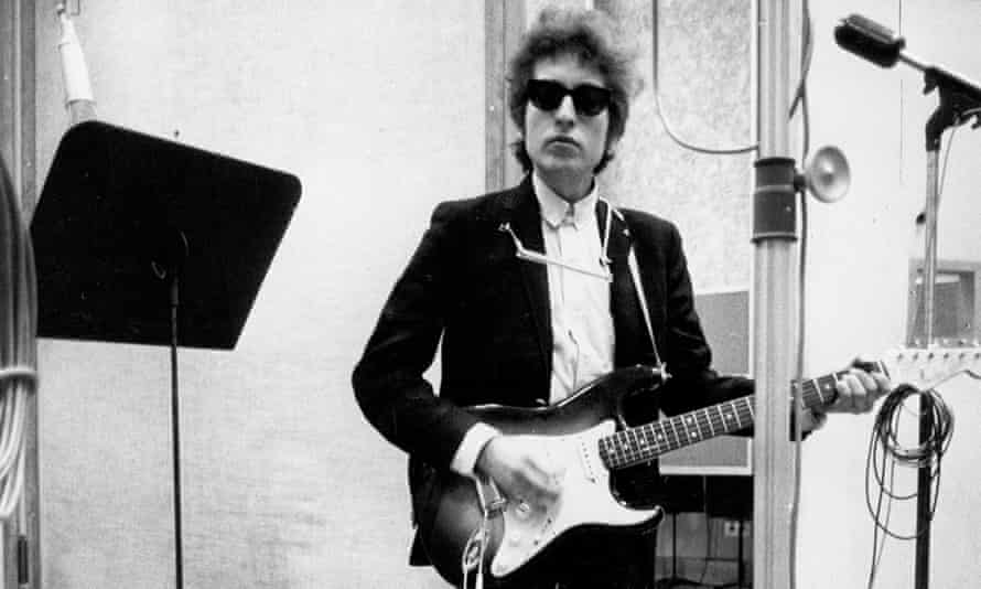 Dylan in the studio in 1965, his 'creative apex'.
