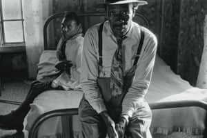Eugene Richards has been photographing the impoverished Arkansas Delta for forty years. This image of Reverend and Mrs. Landers in Hughes, Arkansas was taken in 1969.