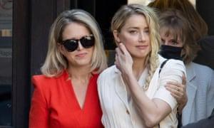 Amber Heard at court with lawyer, Jennifer Robinson