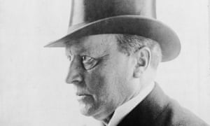 Author Henry James in top hat