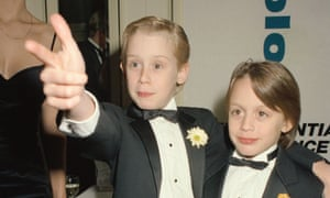 With his brother, Kieran Culkin, c 1990.