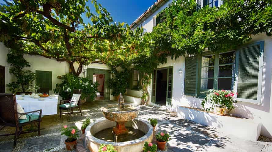 The villa has a tennis court, and original Moorish irrigation streams