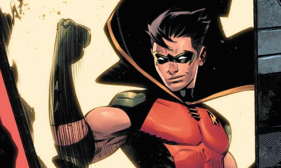 Batman's sidekick Tim Drake, AKA Robin, from a panel in DC's Batman: Urban Legends #6.