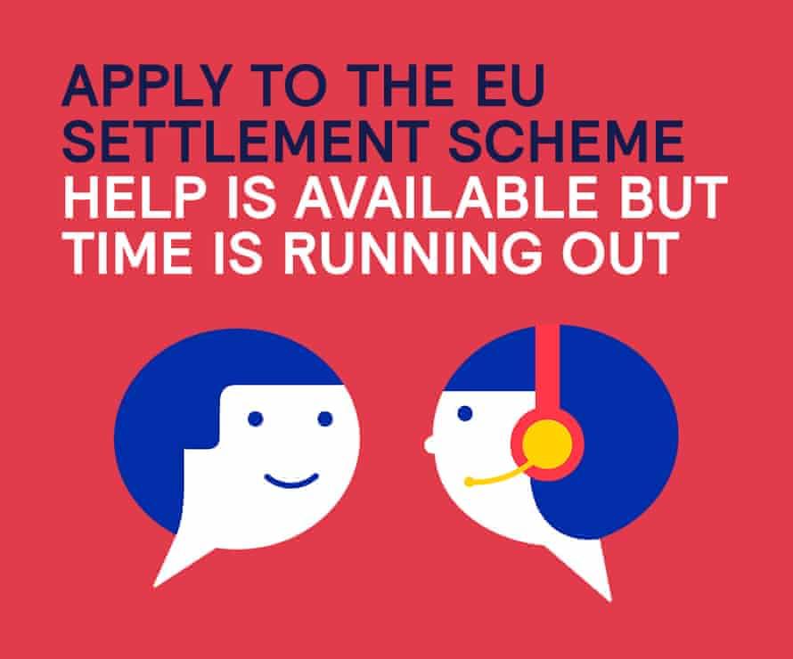 A publicity campaign for the settlement scheme
