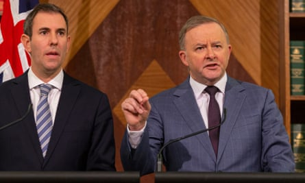 Jim Chalmers and Anthony Albanese