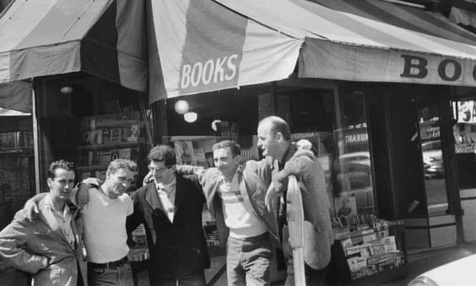 Legendary Beat Writers outside City Lights