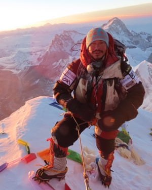 Nirmal Purja at the summit of Everest summit in May 2019.