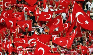 Fans of the Turkish national team