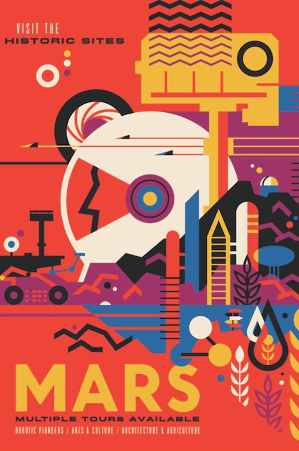 A JPL Studio explanatory travel poster.