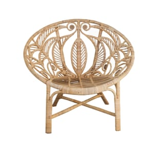 Bird of paradise rattan chair from Raj tent club