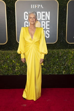 Jamie Lee Curtis attended the event in a brilliant yellow Alex Perry dress that was far from mellow.