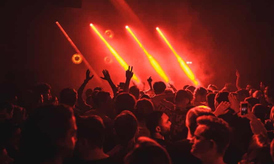 A crowd enjoying music at a London nightclub