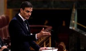 Spain's prime minister, Pedro Sánchez,
