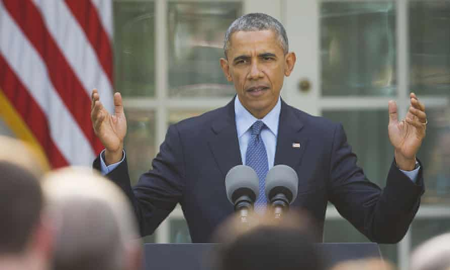 Barack Obama speaks to members of congress and guests in the Rose Garden of the White House on Tuesday. The administration revealed that Obama will once again stop short of calling the 1915 massacre of Armenians a genocide.