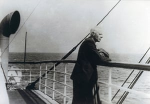 Béla Bartók en route to the United States, October 1940.