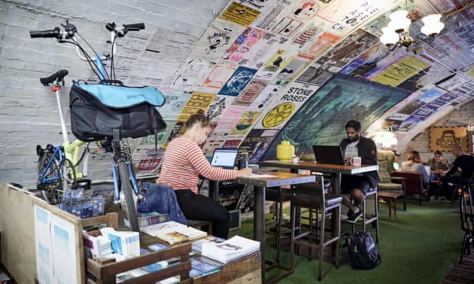 Office inside railway arch