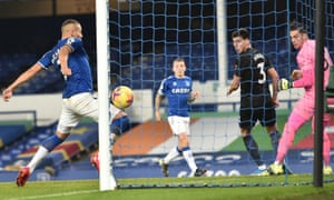Richarlison's thigh equalises for the home side.