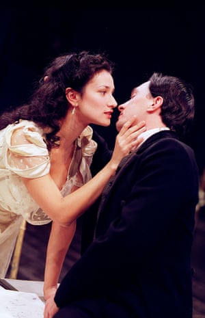 Remembrance Of Things Past by Marcel Proust, adapted by Harold Pinter Indira Varma and Sebastian Harcombe at the Cottesloe, National Theatre, 2000