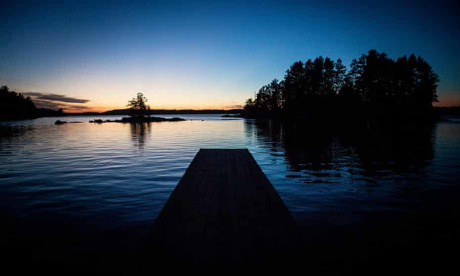The Northwest Angle is 80% water, the remainder a rectangle of land.