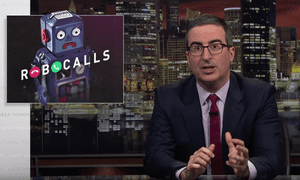 John Oliver: 'It should not be entirely up to us to deal with this bullshit. The FCC has the authority to police robocalls.'