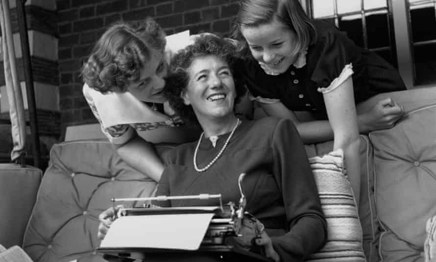 Enid Blyton in 1949 with her two daughters Gillian (left) and Imogen (right).