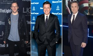 Macklemore, Stephen Colbert and Mark Ruffalo: three white males wrestling with the concept of their privilege.