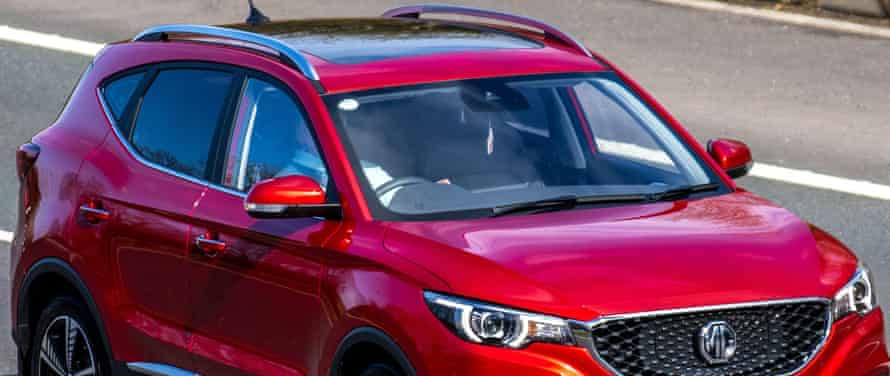 2019 red MG ZS Exclusive EV