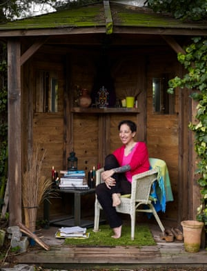 Bidisha in her garden.