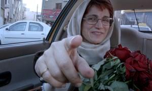 Flowered up… Jafar Panahi's Taxi Tehran.
