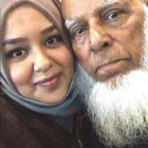 Komru Miah and daughter Hosna Begum