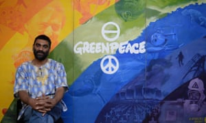 Kumi Naidoo, the outgoing executive director of Greenpeace
