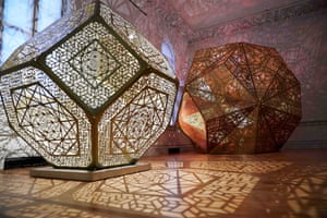 Pieces by Yelena Filipchuk and Serge Beaulieu are seen during a preview of the No Spectators: The Art of Burning Man exhibition at the Renwick Gallery in Washington, DC on March 29, 2018. The show brings artwork from the Nevada desert gathering to Washington for the first time. The exhibition runs from March 30, 2018 to January 21, 2019. / AFP PHOTO / Mandel NGAN / RESTRICTED TO EDITORIAL USE - MANDATORY MENTION OF THE ARTIST UPON PUBLICATION - TO ILLUSTRATE THE EVENT AS SPECIFIED IN THE CAPTIONMANDEL NGAN/AFP/Getty Images