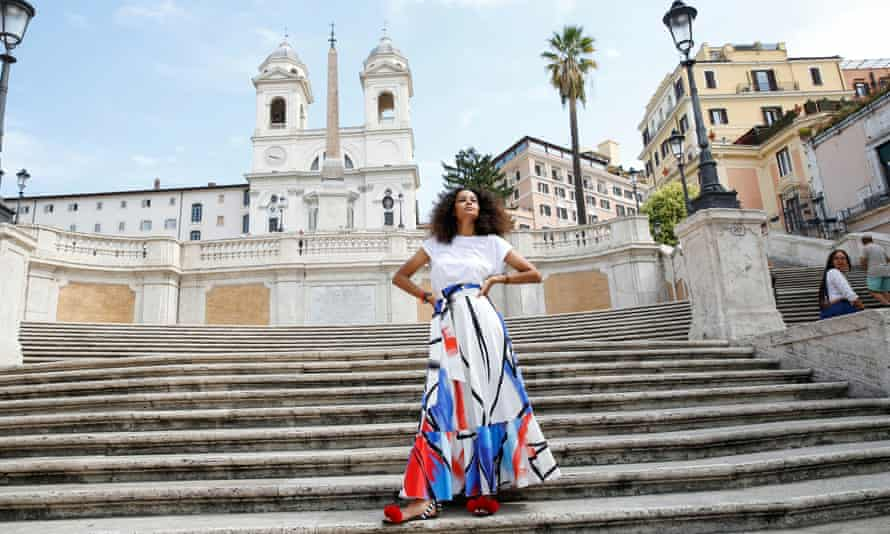 Black Italian designer Stella Jean in Rome before the We Are Made in Italy show at Milan Fashion Week.