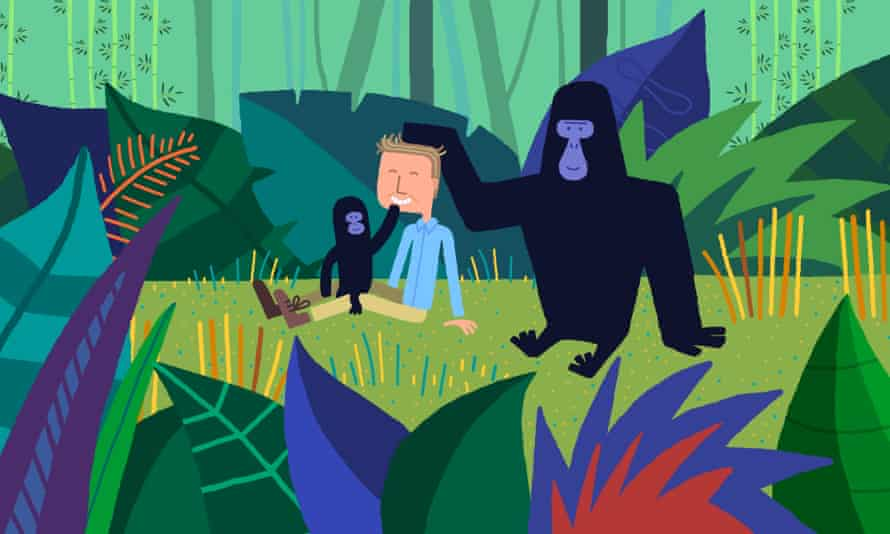 The animation retells the moment a baby gorilla sat on Attenborough's lap in 1979's Life On Earth.